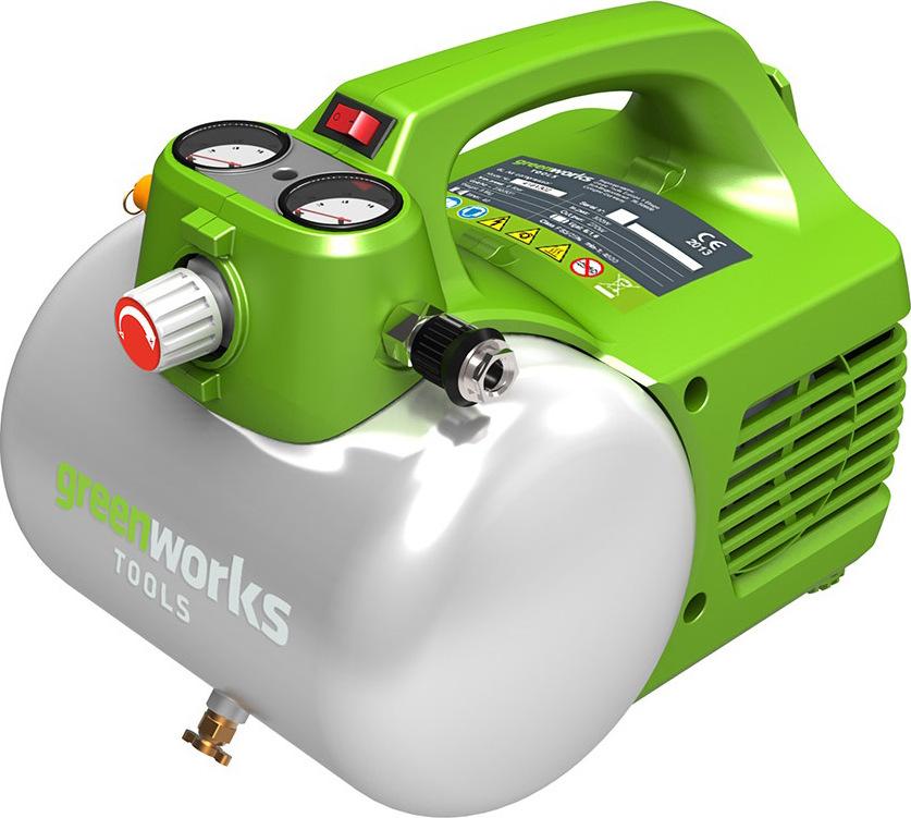 Компрессор электрический Greenworks GAC6L вы lite шт воздушный манометр прецизионный значительное число yd 6026a