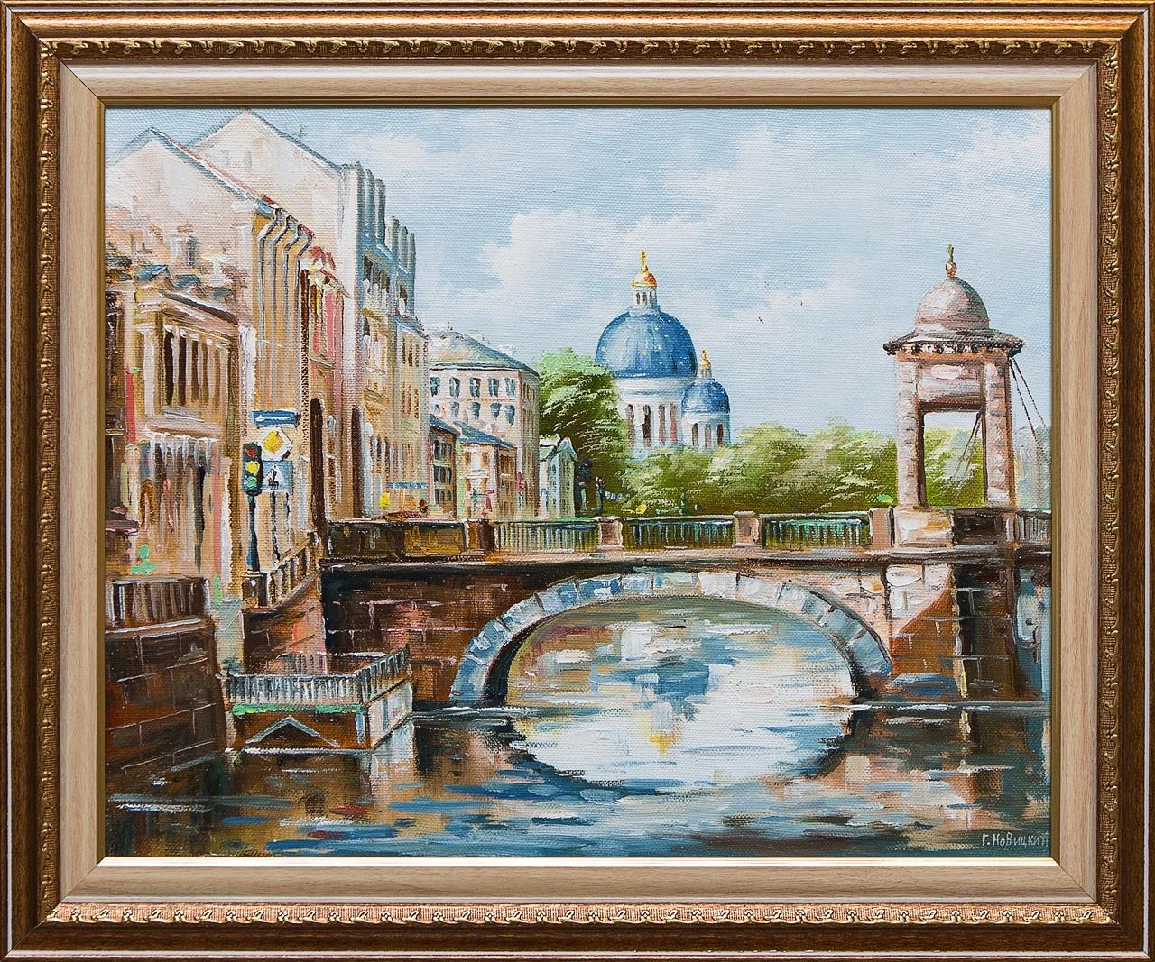 Картина маслом Вид на Троицкий собор Новицкий картина маслом вид на троицкий собор новицкий