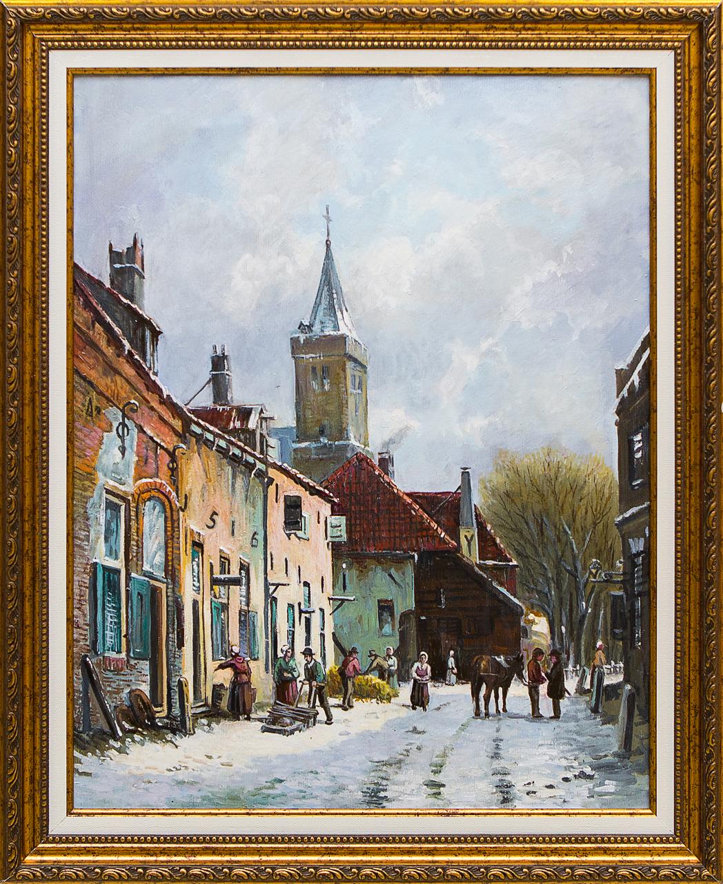 Картина маслом Уголок Голландии Воробьёв картина маслом гуляки воробьёв