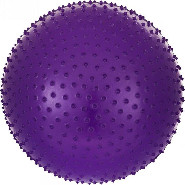 Мяч гимнастический массажный Starfit GB-301 (55 см, фиолетовый, антивзрыв) starfit мяч гимнастический массажный gb 301 65 см фиолетовый антивзрыв