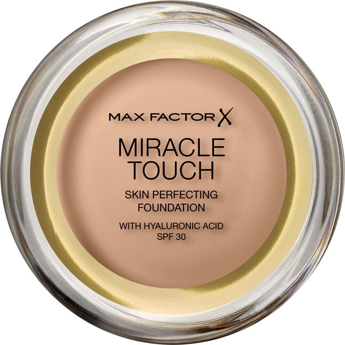Тональная основа Max Factor Miracle Touch, SPF 30, тон 75 Golden, 11 мл основа под макияж max factor miracle prep colour correcting cooling тон green 30 мл