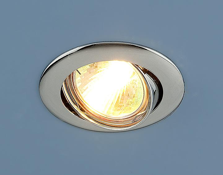 Встраиваемый светильник Elektrostandard Точечный 104S MR16 CH, G5.3 эра c0043804 st3 ch mr16 12v 220v 50w хром