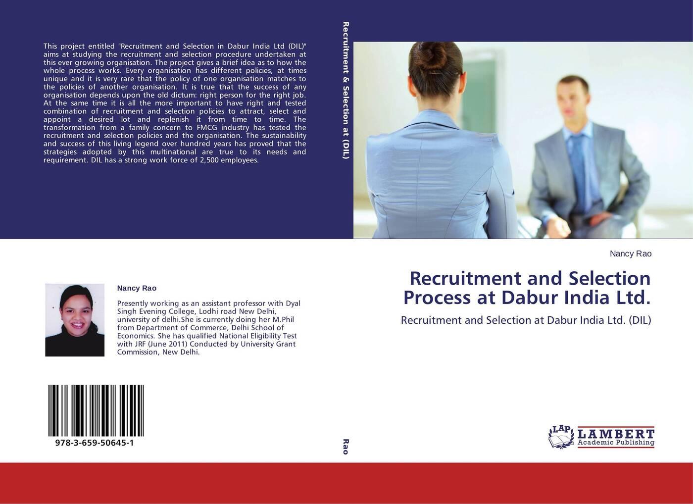 купить Nancy Rao Recruitment and Selection Process at Dabur India Ltd. по цене 4358 рублей