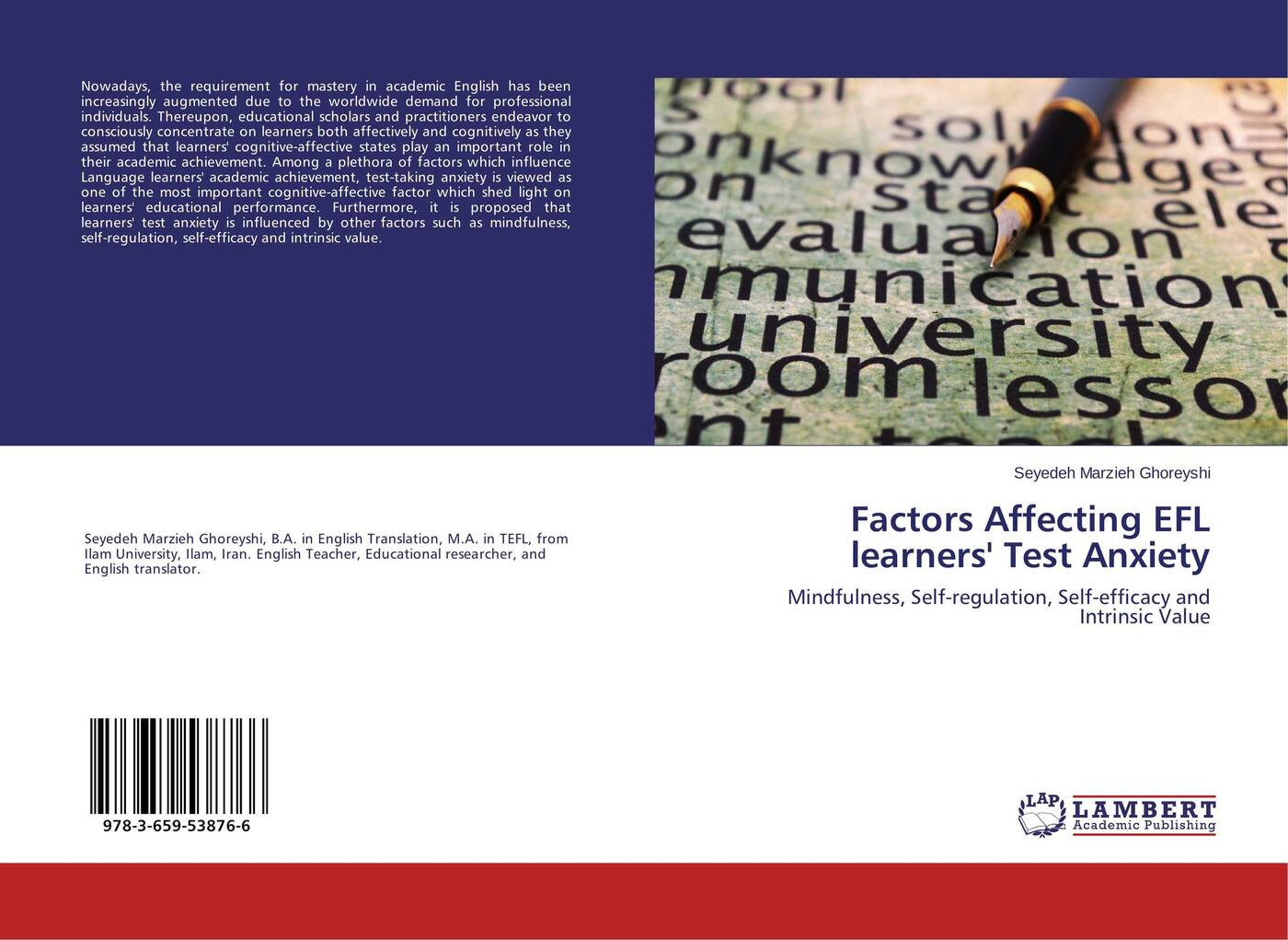 цены на Seyedeh Marzieh Ghoreyshi Factors Affecting EFL learners' Test Anxiety  в интернет-магазинах