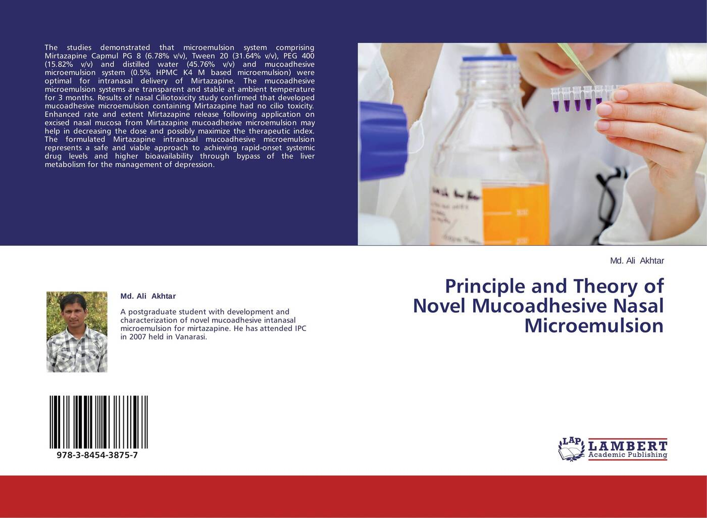 цены на Md. Ali Akhtar Principle and Theory of Novel Mucoadhesive Nasal Microemulsion