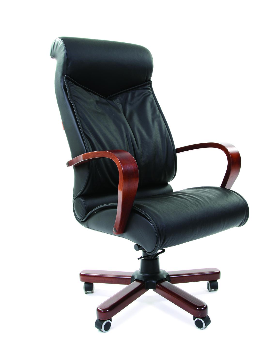 Офисное кресло Chairman    420    Россия     WD кожа черная