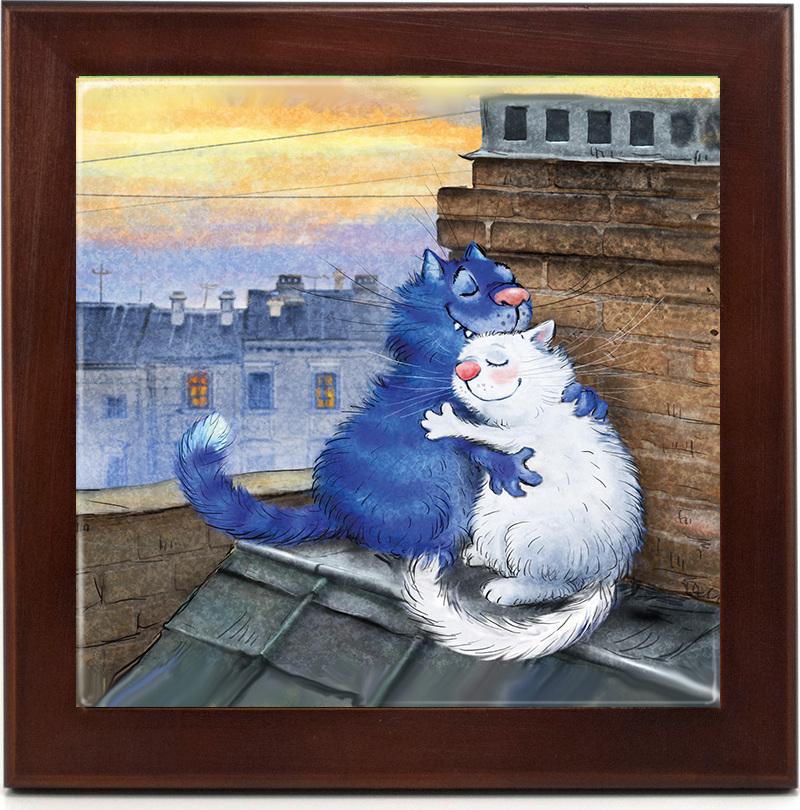 Картина на керамике Любовь крыше