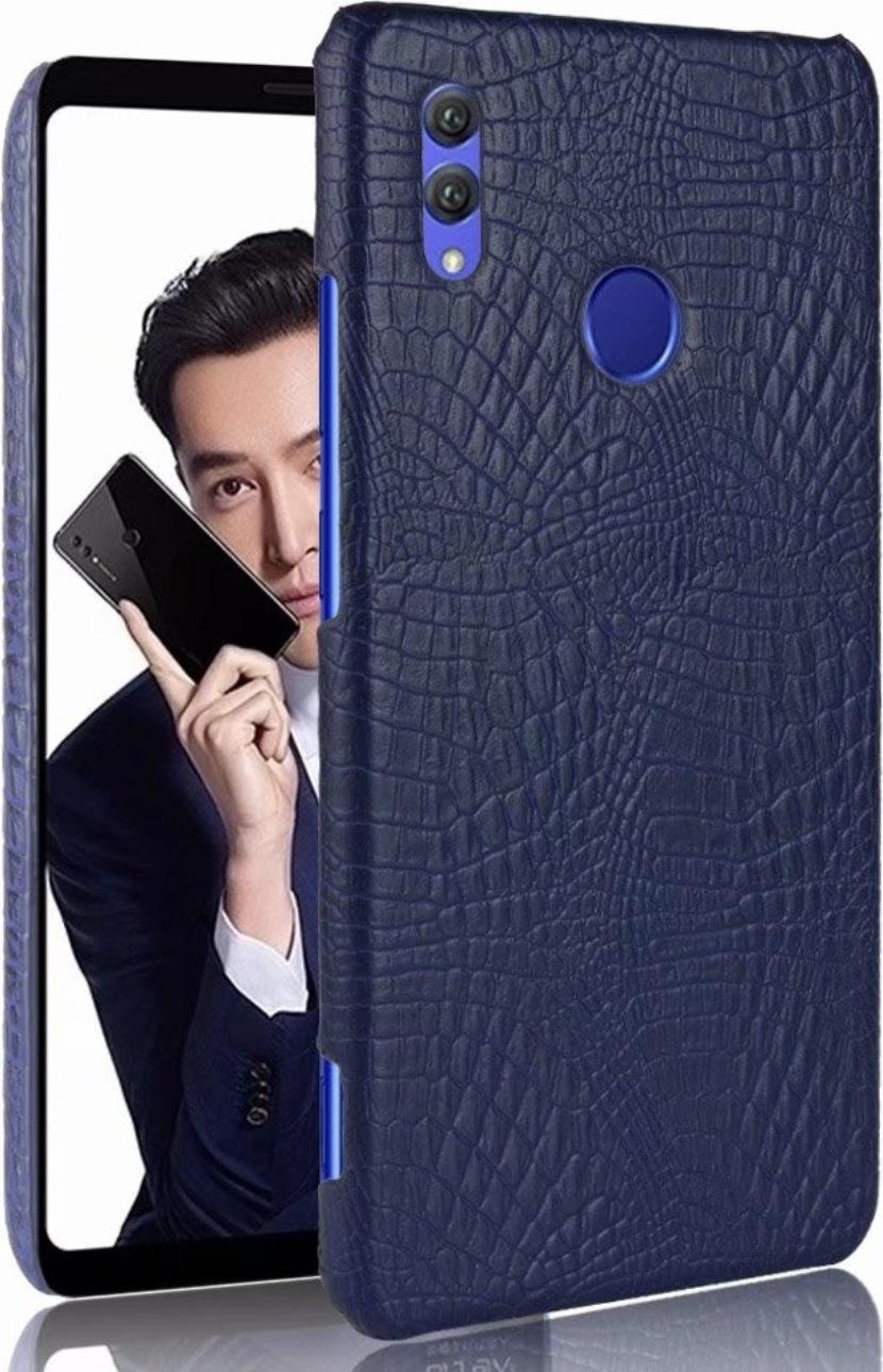 Чехол-панель Mypads для Huawei Honor 10i / Enjoy 9S / P Smart Plus 2019 тонкий задний бампер на пластиковой основе с отделкой под кожу крокодила черный