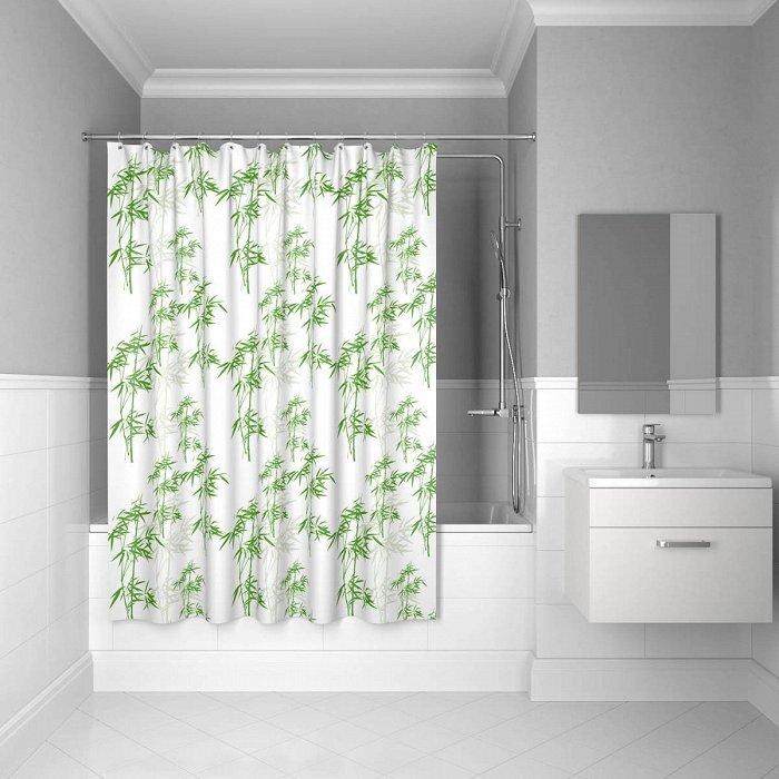 Штора для ванной комнаты, 200*200 см, SCID010P, bamboo leaf, IDDIS штора для ванной комнаты из полиэстера iddis curved lines green 402p20ri11