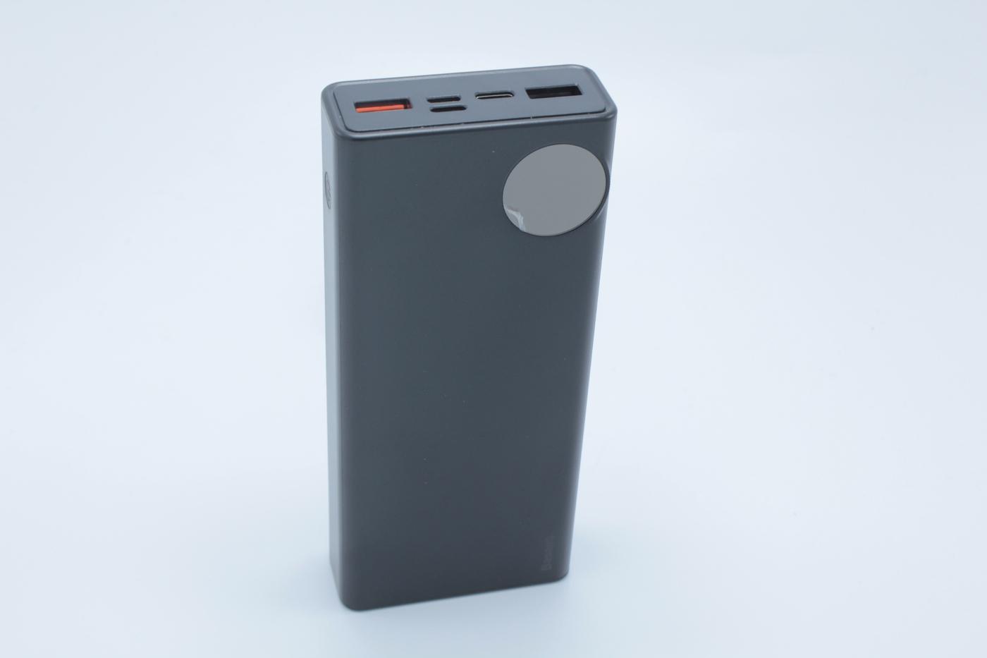 Аккумулятор внешний Baseus Mulight PD3.0 Quick charge powerbank 20000mAh Black PPALL-MY01, черный