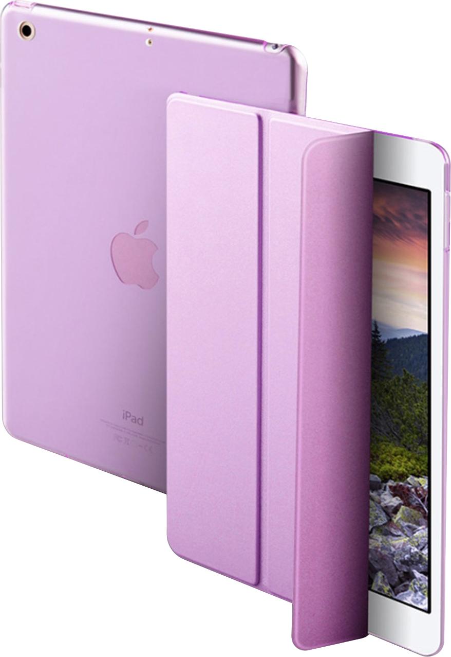 Чехол-обложка MyPads для Apple iPad Air тонкий умный кожаный на пластиковой основе с трансформацией в подставку фиолетовый