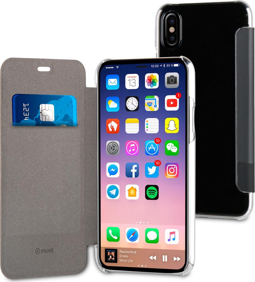 Чехол-книжка Muvit FOLIO CASE Special Edition для Apple iPhone X/XS, черный
