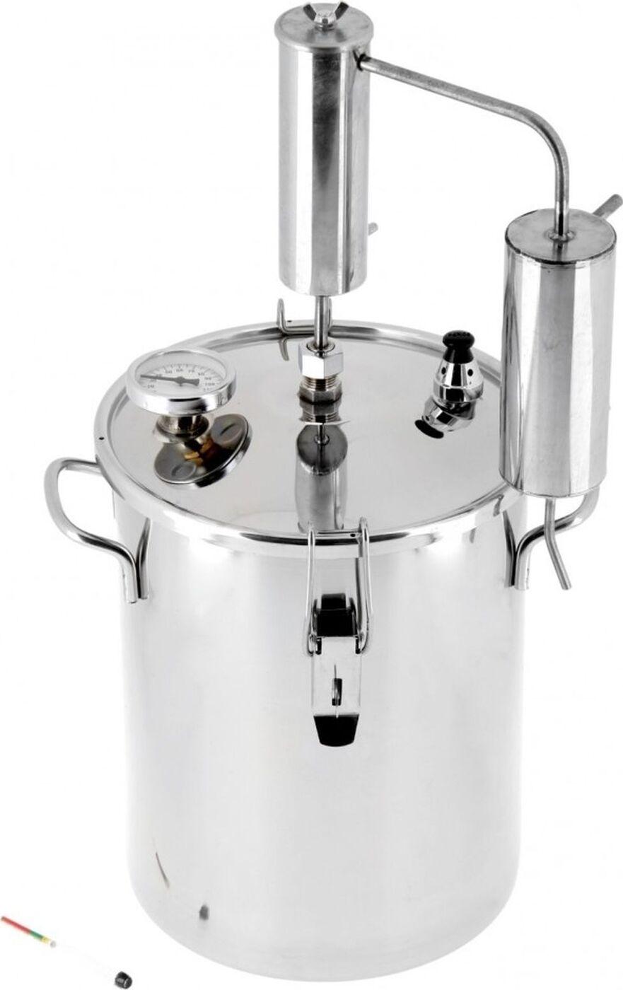 Дистиллятор Первач - Премиум Классик 12Т, домашний 12 л., охладитель с сухопарником, термометр Первач