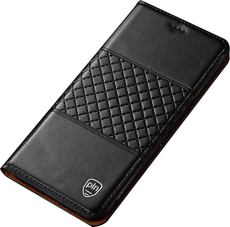 Чехол-книжка MyPads для Huawei Honor 10i / Enjoy 9S / P Smart Plus 2019  из натуральной кожи буйвола с элегантной стеганой прошивкой премиум-класса и магнитной крышкой черный