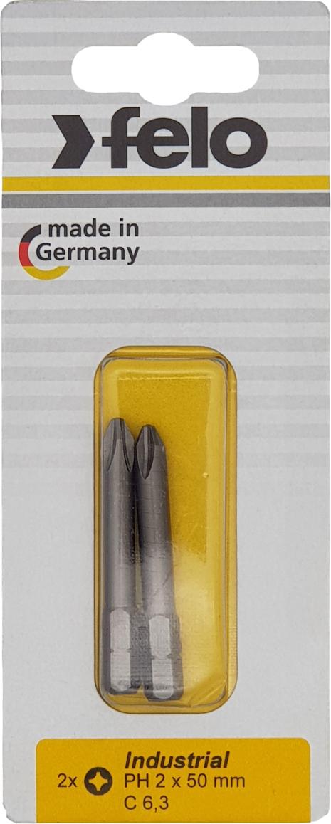 Бита для инструмента Felo, крестовая PH 2х50 мм, FEL-02202536, 2 шт