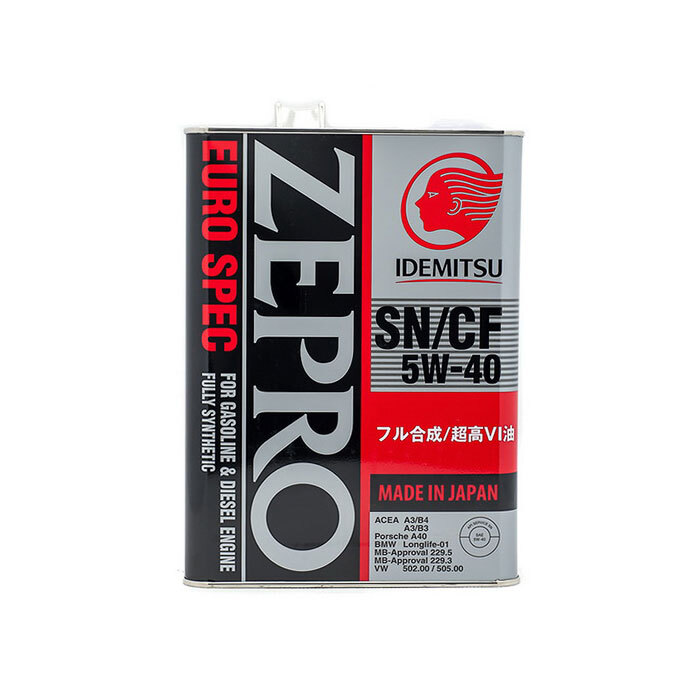 Моторное масло IDEMITSU Zepro Euro Spec SN/CF, синтетическое, 5W-40, 4 л 1849004