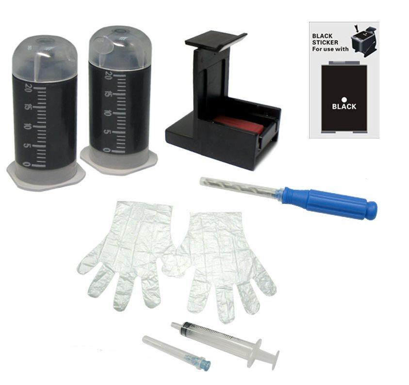 Картридж HP Заправочный набор Sprint SK-HP-21/ 27/ 56 (Bk), для струйного принтера, совместимый