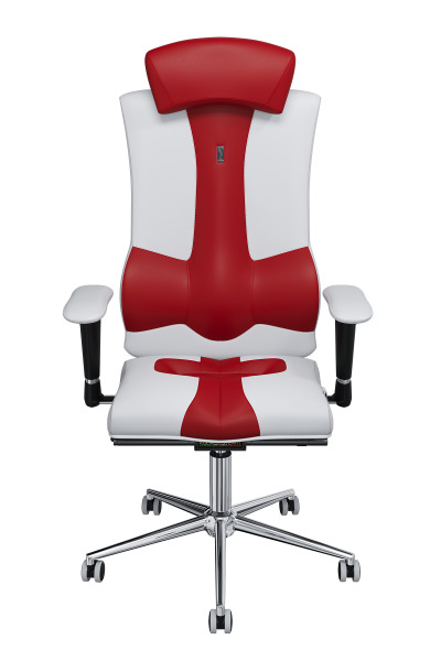 Эргономичное Кресло KULIK SYSTEM ELEGANCE Бело-красный