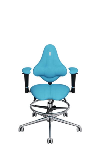 Детское компьютерное кресло KULIK SYSTEM KIDS Бирюзовый