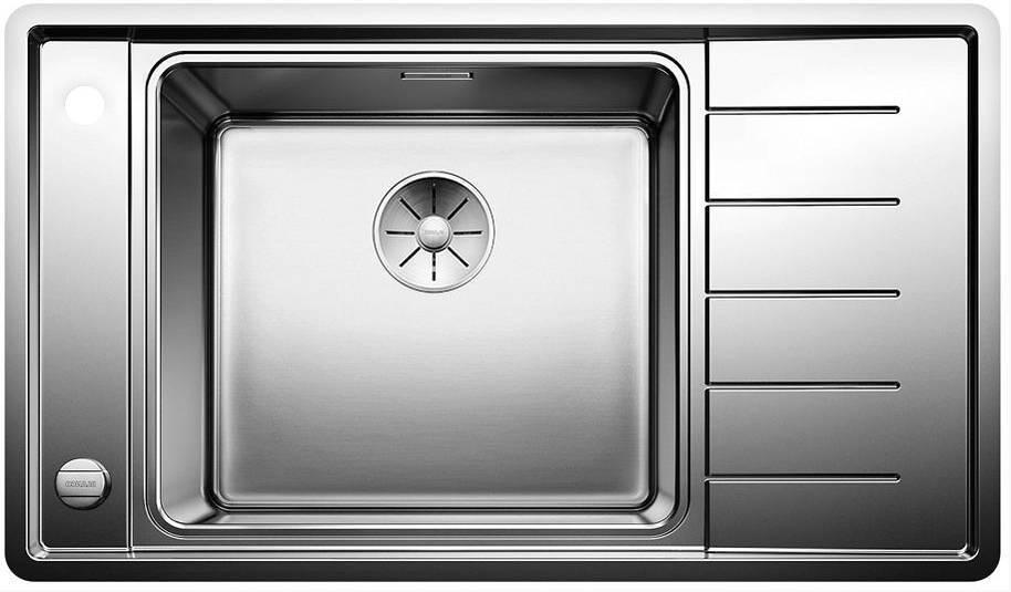 Кухонная мойка Blanco ANDANO XL 6S-IF Compact нерж.сталь с зеркальной полировкой чаша слева