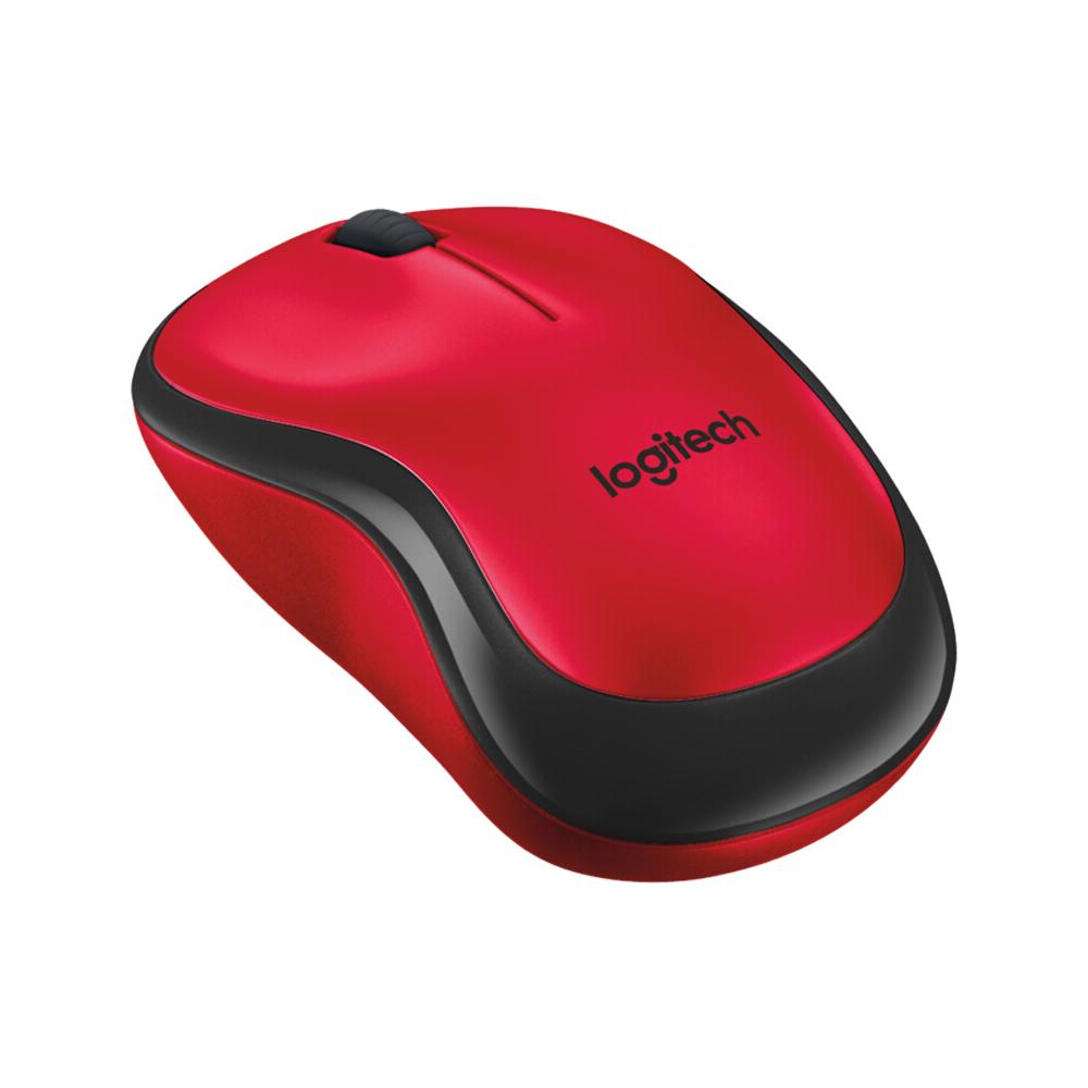 Logitech M220 Беспроводная мышь эргономичная бесшумная с приемником 2.4G Red