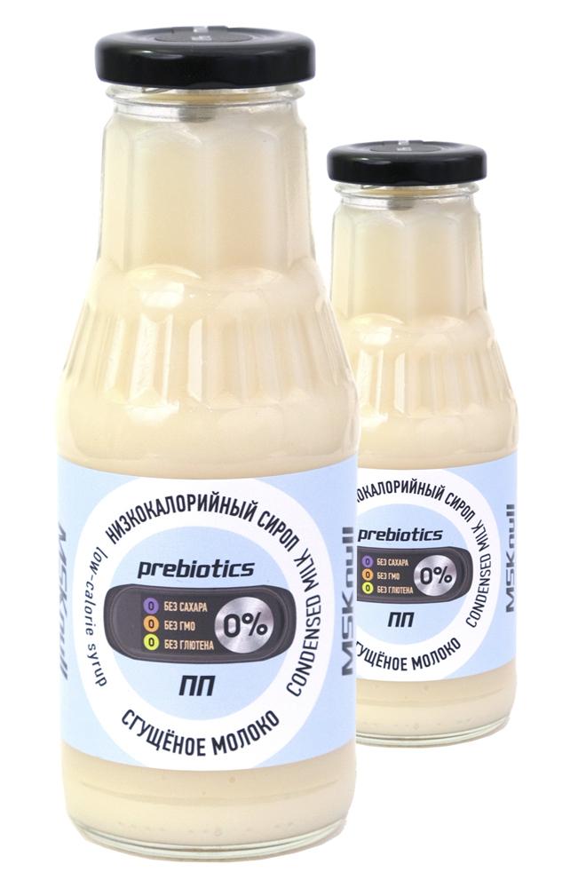 """Низкокалорийный Zero сироп-пудинг с пребиотиком """"Сгущеное молоко"""", MSK null, 330г. Набор из 2 штук"""