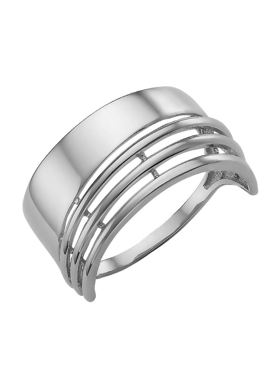Сорокин Кольцо серебро 925 родированное без вставок