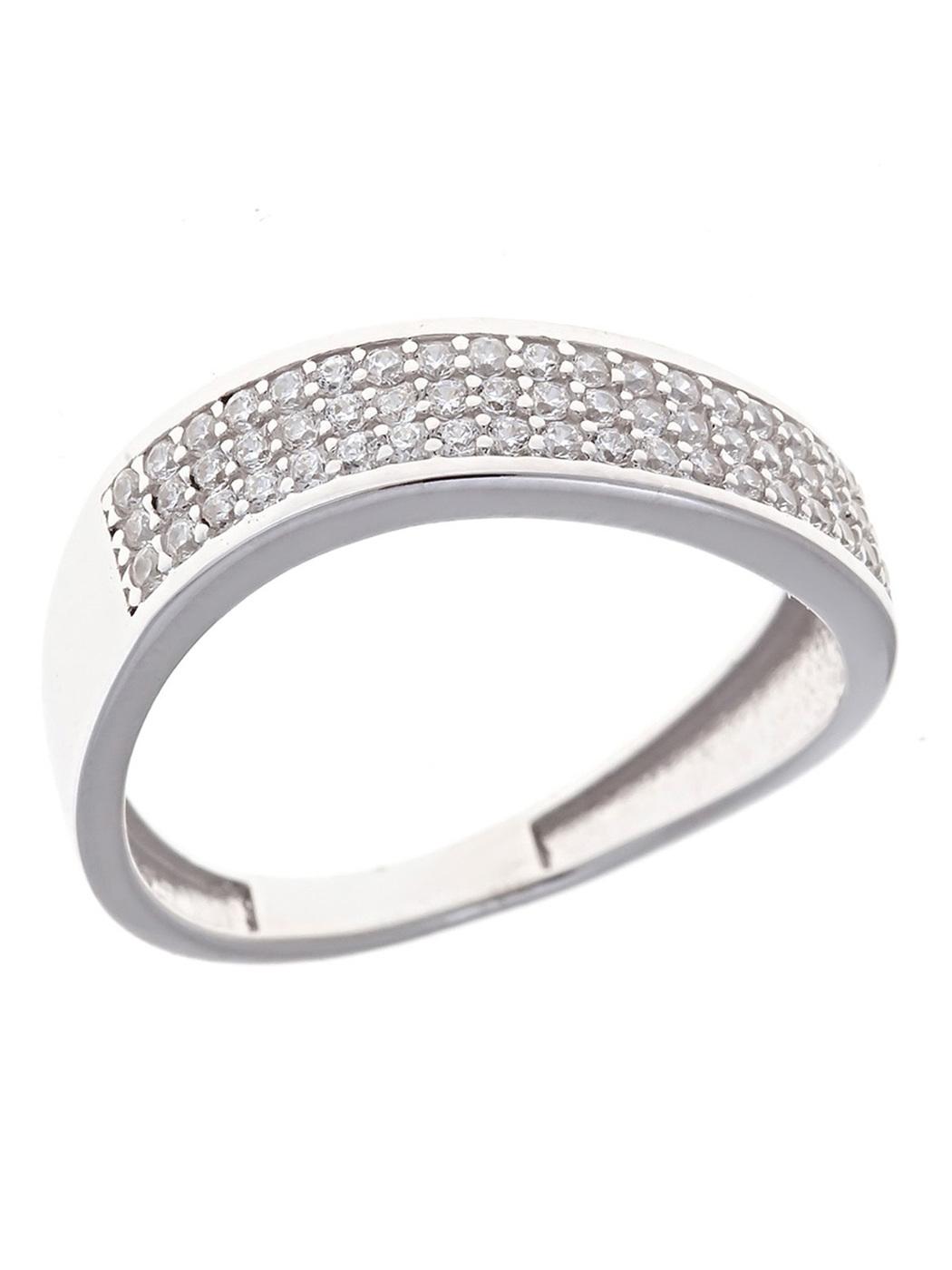 Milanti Кольцо с фианитами, серебряное с камнями, из серебра