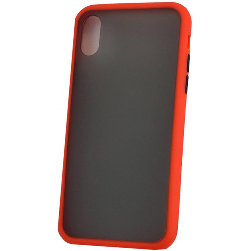 Чехол противоударный матовый для Apple iPhone XR Красный