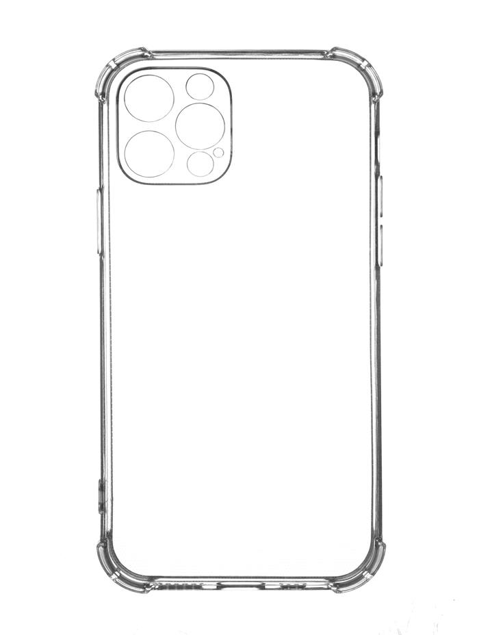 Чехол с защитой камеры на iPhone 12 pro / Айфон 12 про (прозрачный)