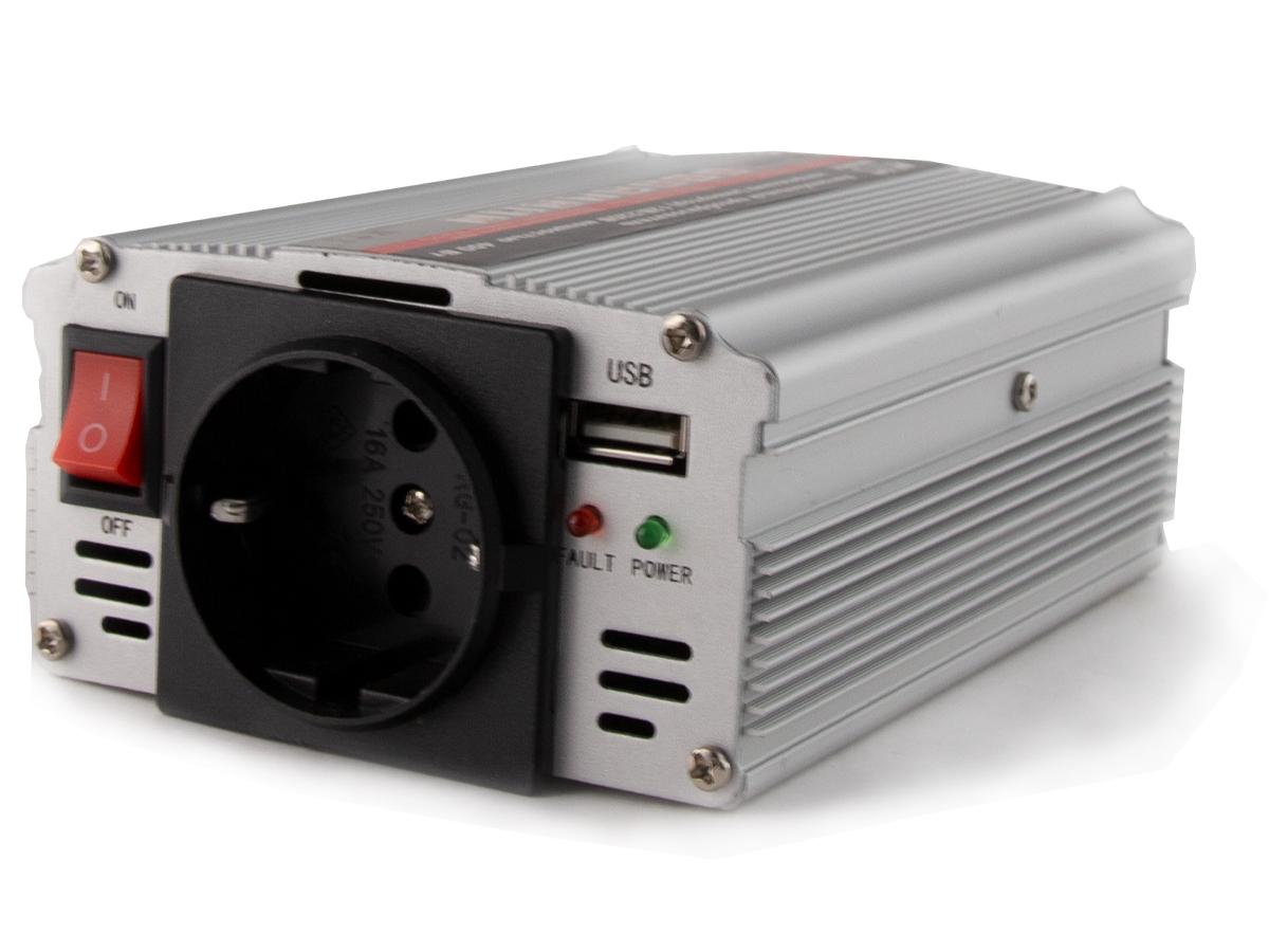Преобразователь напряжения автомобильный 12/220V (сетевой адаптер, инвертор) AVS IN-400W - A80684S