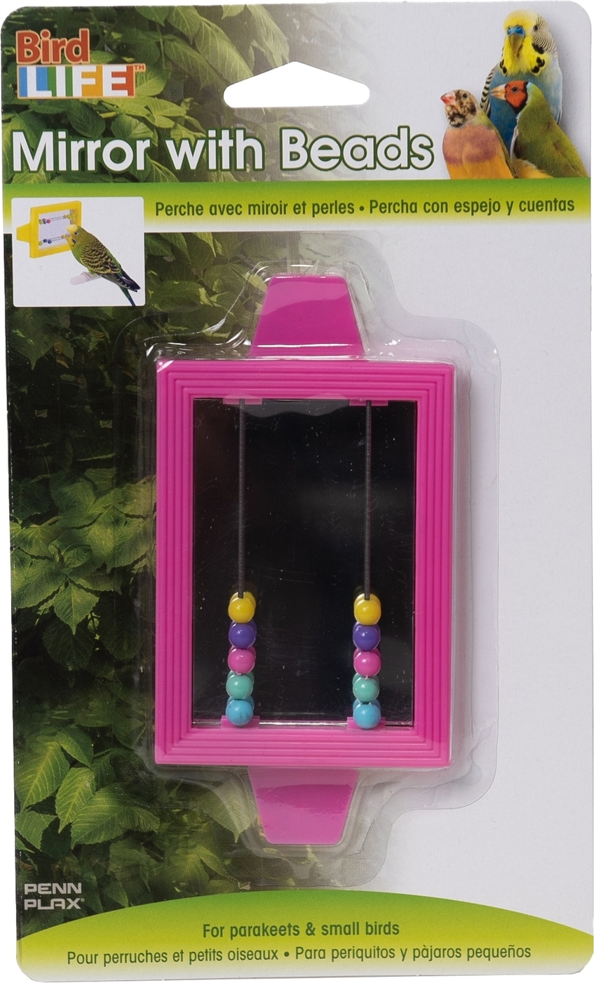 "игрушка для птиц penn-plax ""зеркало с бусинками"""