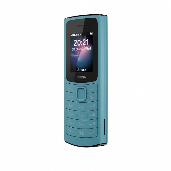 мобильный телефон nokia 110 4g, бирюзовый