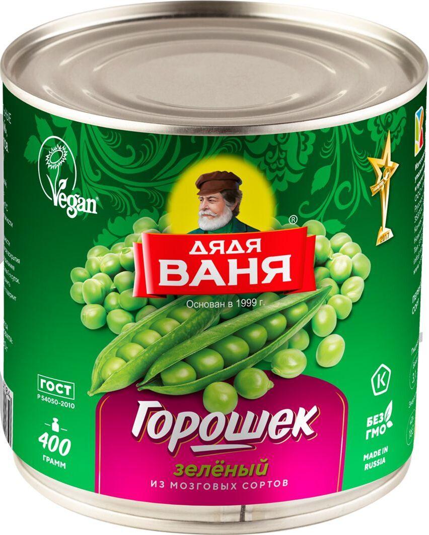 Дядя Ваня горошек зеленый консервированный, 400 г #1