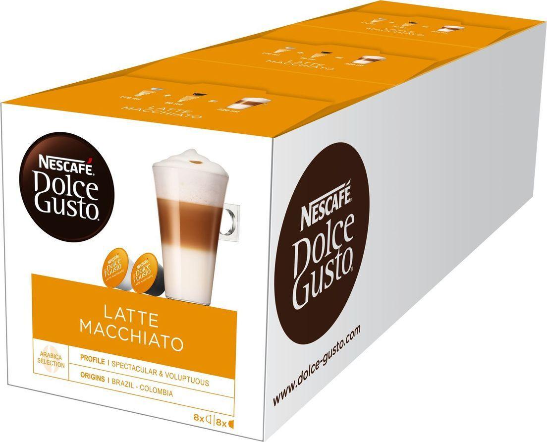 Кофе капсульный Nescafe Dolce Gusto Латте Макиато, 3 упаковки по 16 капсул  #1