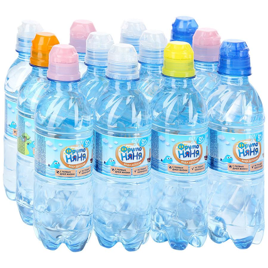 ФрутоНяня вода артезианская питьевая негазированная, 12 шт по 0,33 л  #1