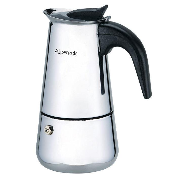 Гейзерная кофеварка ALPENKOK 110 мл на 2 чашки AK-800 #1