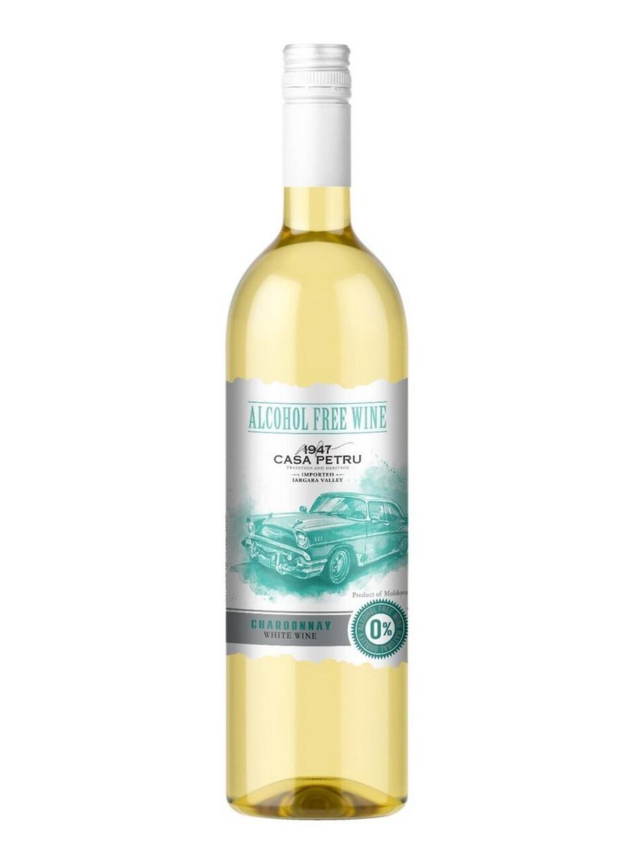 """Вино безалкогольное Casa Petru (Каса Петру) Шардоне"""" 0,75 белое сладкое, Молдавия  #1"""