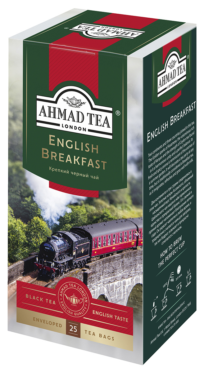 Ahmad Tea English Breakfast черный чай в фольгированных пакетиках, 25 шт  #1
