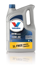 Моторное масло Valvoline SYNPOWER SAE 10W-40 Полусинтетическое 5 л. Акция 4+1 моторные масла