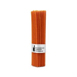 Свечи оранжевые 35мин 160х5.5 42шт №120. Оранжевые свечи