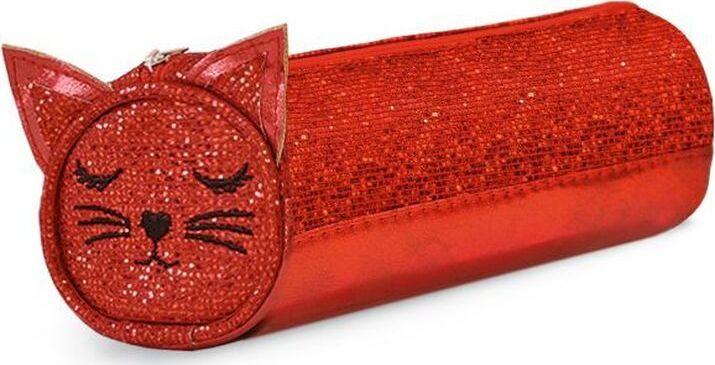 Пенал Феникс+ Кот, 1 отделение, 48840, красный, 20 х 7,5 х 7,5 см пенал тубус animal planet без наполнения 21х7см 1 отделение