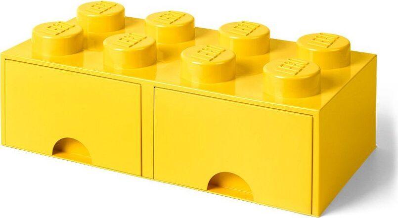 Ящик для хранения 8 выдвижной LEGO желтый