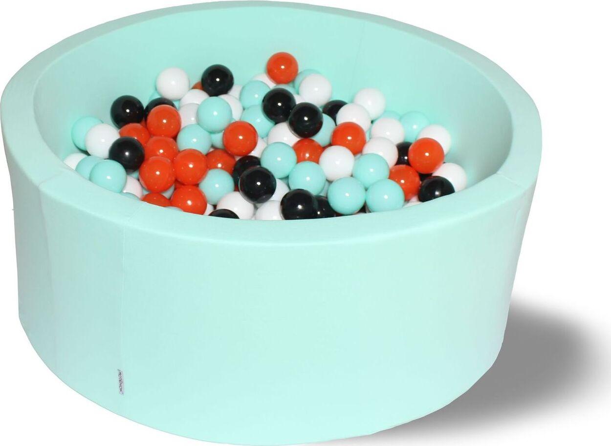 Сухой бассейн Ночной цветок Лайт серия выс. h33см с 200 шариками: мятн., бел., черн., оранж.