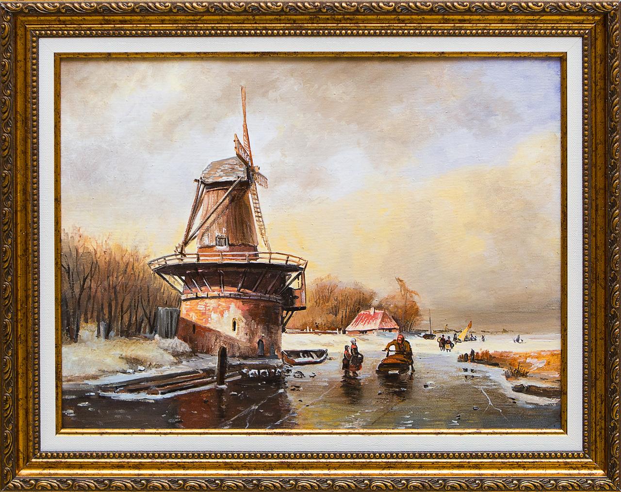 Картина маслом Голландский пейзаж Воробьёв картина маслом гуляки воробьёв