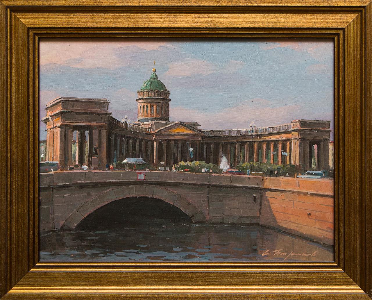 Картина маслом Казанский собор Бирюков картина маслом казанский собор иванченков