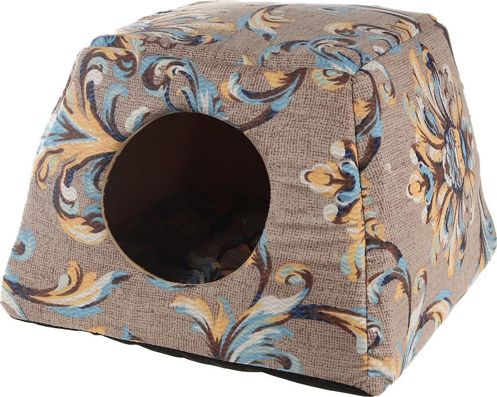 Домик для животных Лежачок Д-009.24, 40 х 40 х 30 см домик для животных pride ватсон цвет салатовый 40 х 40 х 40 см 10031151