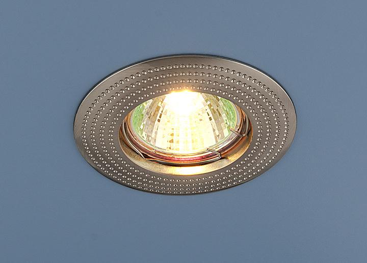 цены Встраиваемый светильник Elektrostandard Точечный круглый 601 MR16 SN, G5.3