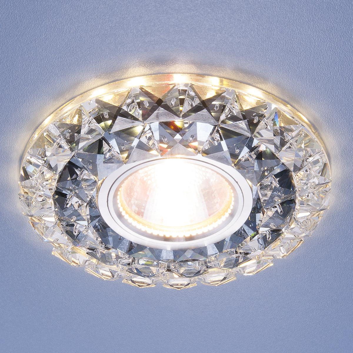 цены на Встраиваемый светильник Elektrostandard потолочный со светодиодной подсветкой 2170 MR16 SBK CL, G5.3 в интернет-магазинах