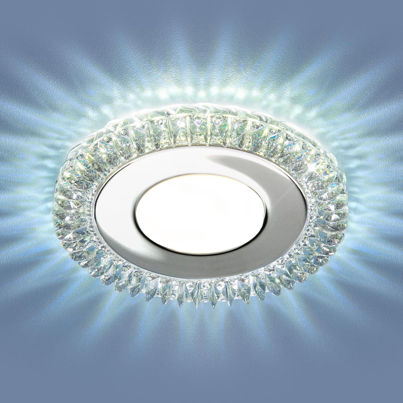 Встраиваемый светильник Elektrostandard светодиодный потолочный с LED подсветкой 9908 LED 8W CL